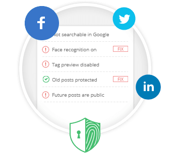 Privacy Defender - free chrome and firefox app, to manage your privacy settings in social networks (Facebook, Google, Twitter)